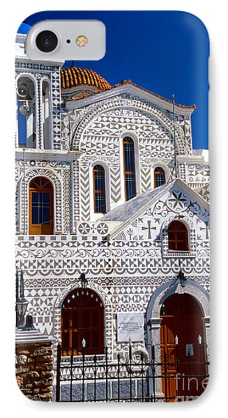 Church Of Geometric Pattern IPhone Case by Aiolos Greek Collections