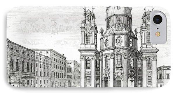 Church Of Notre Dame, Salzburg IPhone Case by Johann Bernhard Fischer von Erlach