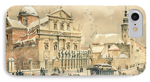 Church Of St Peter And Paul In Krakow Phone Case by Stanislawa Kossaka