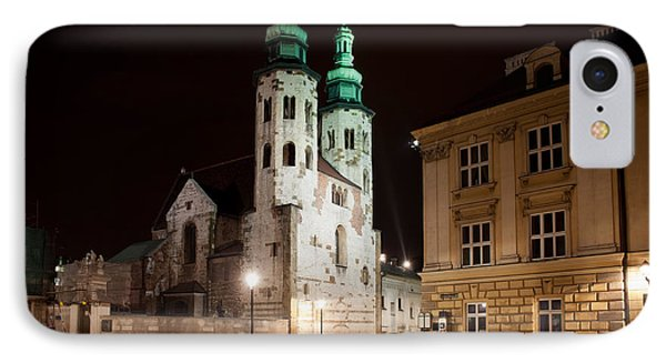 Church Of St. Andrew At Night In Krakow IPhone Case by Artur Bogacki