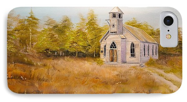 Church On The Hill IPhone Case by Alan Lakin