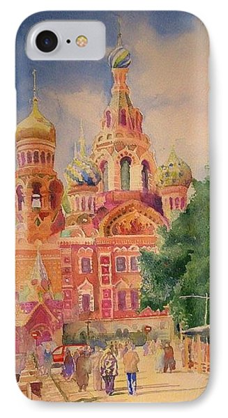 IPhone Case featuring the painting Church On The Spilt Blood by Alla Parsons