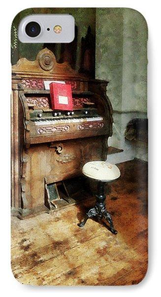 Church Organ With Swivel Stool Phone Case by Susan Savad