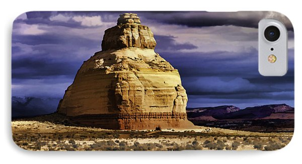 IPhone Case featuring the painting Church Rock  by Muhie Kanawati