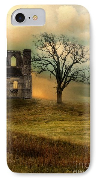 Church Ruin With Stormy Skies IPhone Case