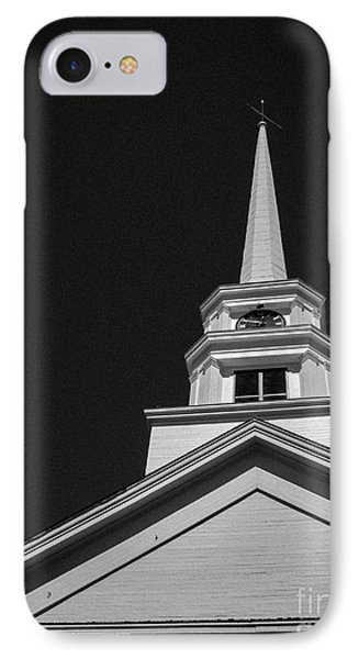 Church Steeple Stowe Vermont Phone Case by Edward Fielding