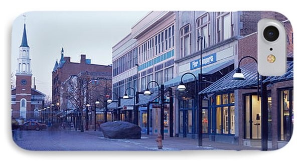 Church Street, Burlington Vermont, Usa IPhone Case by Panoramic Images