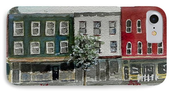Pennsylvania - Church Street In Montrose IPhone Case by Christine Lathrop