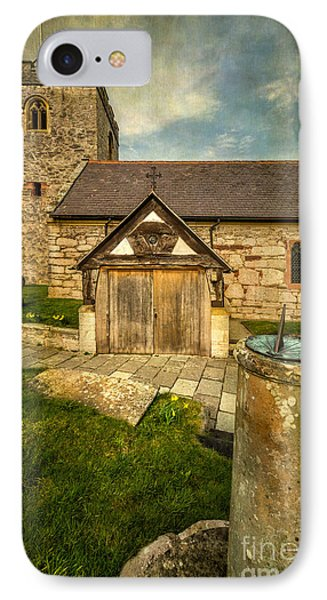 Church Sundial 1806 IPhone Case by Adrian Evans