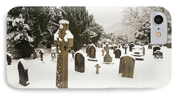 Church Yard In Snow IPhone Case by Ashley Cooper