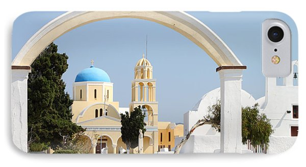 Churches Oia Santorini Greek Islands Phone Case by Carole-Anne Fooks