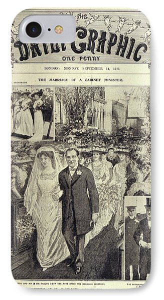 Churchill - Hozier Wedding IPhone Case by British Library