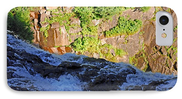 Churning Waters. Cliffs At Narada Falls Phone Case by Connie Fox