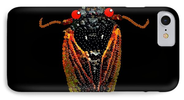 Cicada In Black IPhone Case by R  Allen Swezey