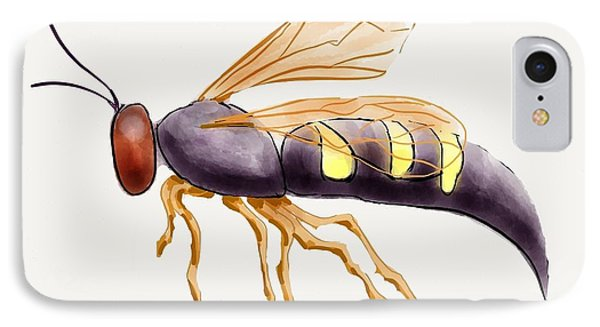 Cicada Killer Wasp Phone Case by Stacy C Bottoms