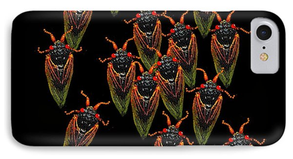 Cicadas IPhone Case by R  Allen Swezey