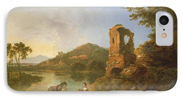 Ciceros Villa Oil On Canvas IPhone Case by Richard Wilson