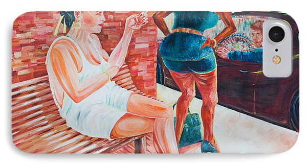 IPhone Case featuring the painting Cigarette Break by Giovanni Caputo