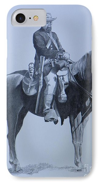 Cilvil War Soldier   Two IPhone Case by David Ackerson