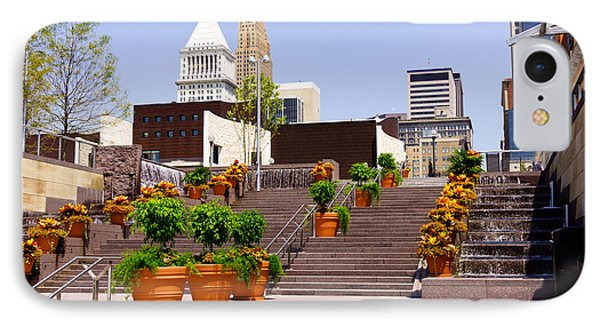 Cincinnati Downtown Central Business District IPhone Case by Paul Velgos