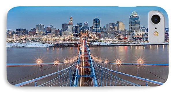 Cincinnati From On Top Of The Bridge IPhone Case