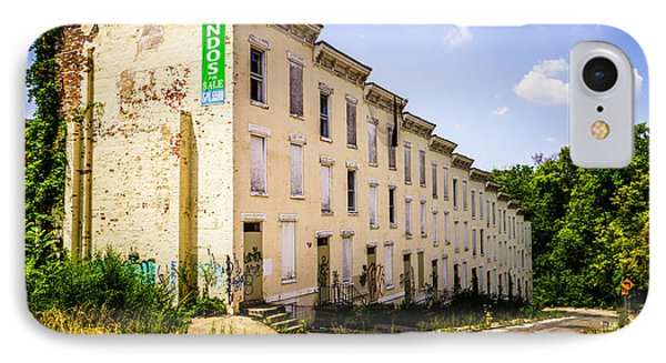 Cincinnati Glencoe-auburn Row Houses Picture IPhone Case
