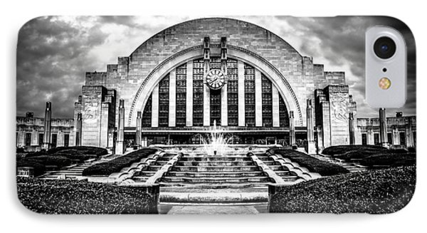 Cincinnati Museum Center Black And White Picture Phone Case by Paul Velgos