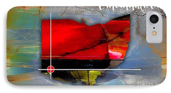 Cincinnati Ohio Map Watercolor IPhone Case by Marvin Blaine