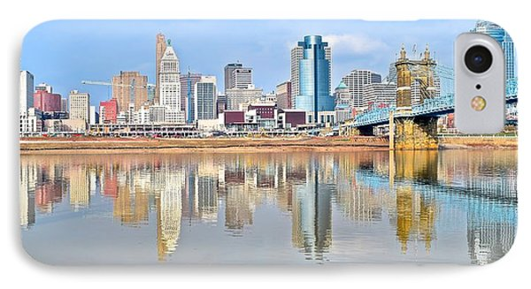 Cincinnati Panoramic IPhone Case by Frozen in Time Fine Art Photography