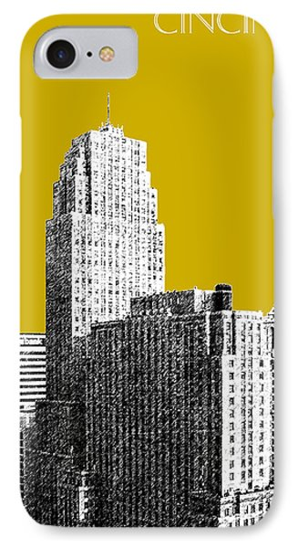 Cincinnati Skyline 2 - Gold IPhone Case by DB Artist