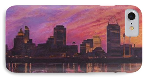Cincinnati Skyline IPhone Case by Andrew Danielsen