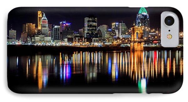 Cincinnati Skyline In Christmas Colors IPhone Case