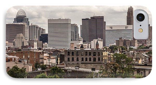 Cincinnati Skyline Old And New Buildings IPhone Case by Paul Velgos