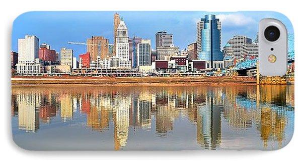 Cincinnati Skyline Panoramic IPhone Case by Frozen in Time Fine Art Photography