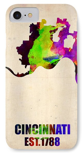 Cincinnati Watercolor Map IPhone Case