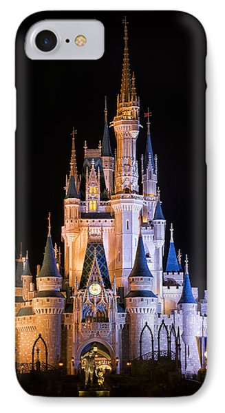 Cinderella's Castle In Magic Kingdom IPhone 7 Case by Adam Romanowicz