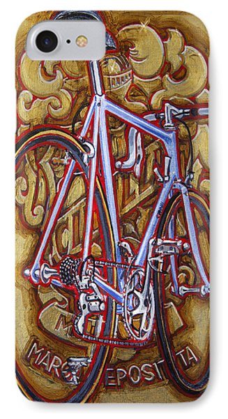 IPhone Case featuring the painting Cinelli Laser Bicycle by Mark Howard Jones