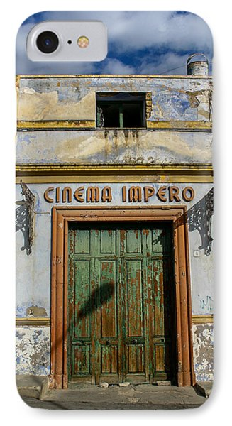 IPhone Case featuring the photograph Cinema Impero by Glenn DiPaola