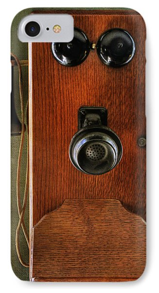 Circa 1920's Antique Wall Phone Phone Case by Donna Kennedy