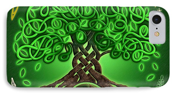 Circle Celtic Tree Of Life IPhone Case by Kristen Fox