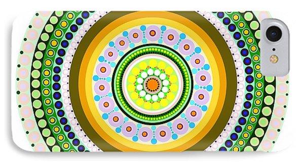 Circle Motif 237 IPhone Case by John F Metcalf