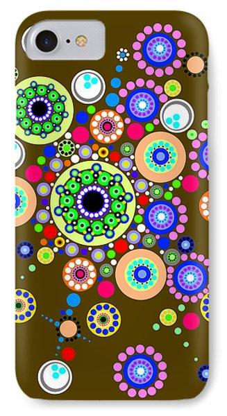 Circle Motif 254 IPhone Case by John F Metcalf