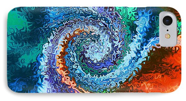 Circle Of Colors Abstract Art IPhone Case by Annie Zeno