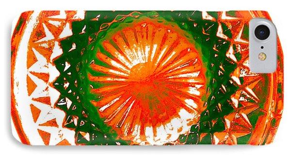 Circle Orange Phone Case by Anita Lewis