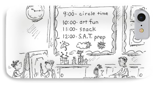 Circle Time: Art Fun: Snack: S.a.t. Prep IPhone Case by Barbara Smalle