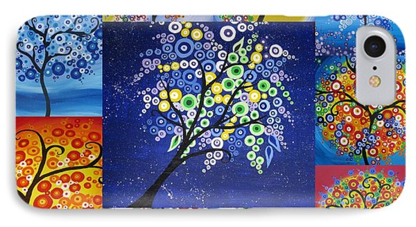 Circle Tree Collage IPhone Case by Cathy Jacobs