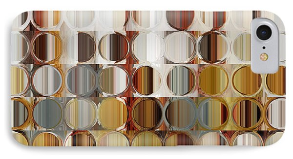 Circles And Squares 36. Modern Abstract Fine Art IPhone Case by Mark Lawrence