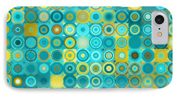 Circles And Squares 6. Modern Home Decor Art IPhone Case