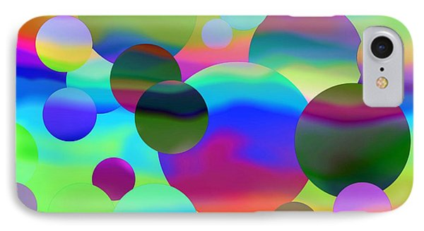 IPhone Case featuring the digital art Circles by Elizabeth Budd
