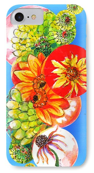 IPhone Case featuring the digital art Circles Of Flowers by Mary Armstrong